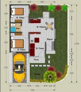 Denah Rumah Minimalis Type 45 7 | HamilPlus.Com 2021