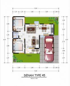 Denah Rumah Minimalis Type 45 8 | HamilPlus.Com 2021