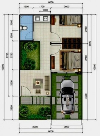 Denah Rumah Type 36 Minimalis Sederhana 3D 10 | HamilPlus.Com 2021