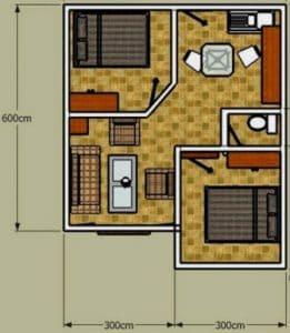 Denah Rumah Type 36 Minimalis Sederhana 3D 21 | HamilPlus.Com 2021