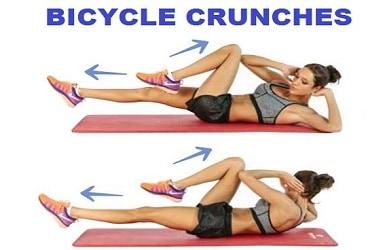 Cara Menghilangkan Lemak di Perut dan Pinggang bicycle crunches