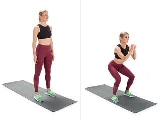 Cara Menghilangkan Lemak di Perut dan Pinggang squat