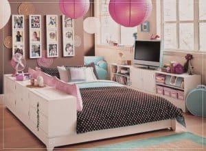 desain kamar tidur perempuan dewasa full akesoris