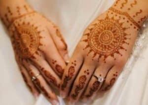 henna tangan pengantin mudah sederhana simple simpel