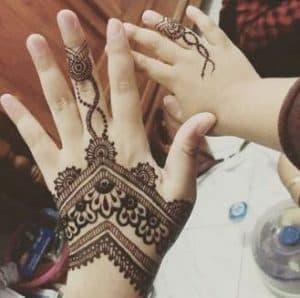 motif henna untuk anak kecil