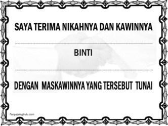 akad nikah (bacaan ijab qobul, lafadz akad nikah bahasa arab)