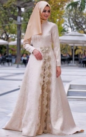 Kebaya Dress Brokat Muslimah Untuk Pesta Kondangan Wisuda 2019