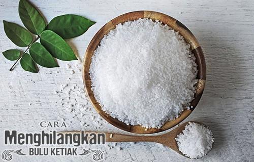 Cara Menghilangkan Bulu Ketiak dengan Garam