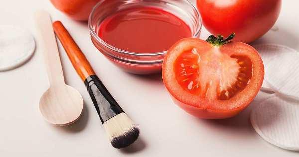 lulur masker tomat untuk menghilangkan bekas jerawat
