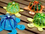 Cara Membuat Celengan dari Botol plastik bentuk kura kura