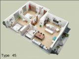 Denah Rumah Minimalis Type 45 5