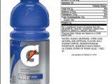 Gatorade Nutrition Label