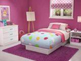 Gambar desain kamar tidur anak perempuan sederhana terbaru